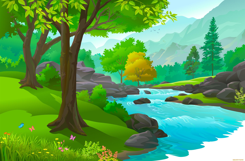 Фон природа рисунок